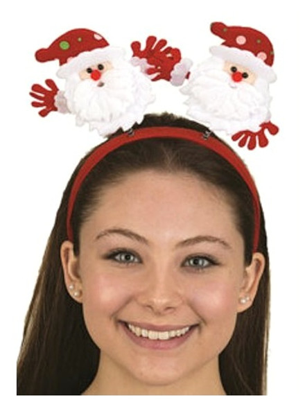 Cute Santa Claus Bopper Headband Christmas Headpiece Festive Costume Accessory
