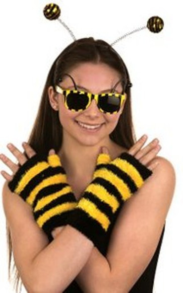 Bumble Bee Costume Accessory Set Antennae Boppers Glasses Gloves Halloween
