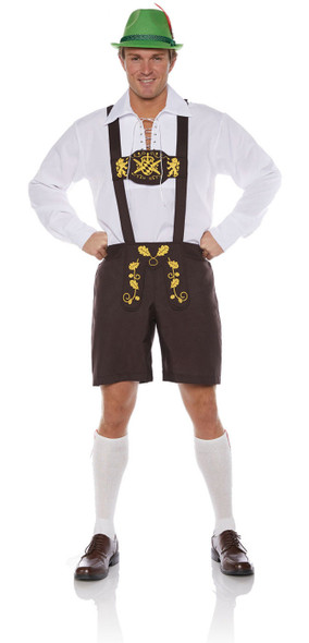 Lederhosen Bavarian German Oktoberfest Beer Guy Ricola Men's Costume STD-XXL