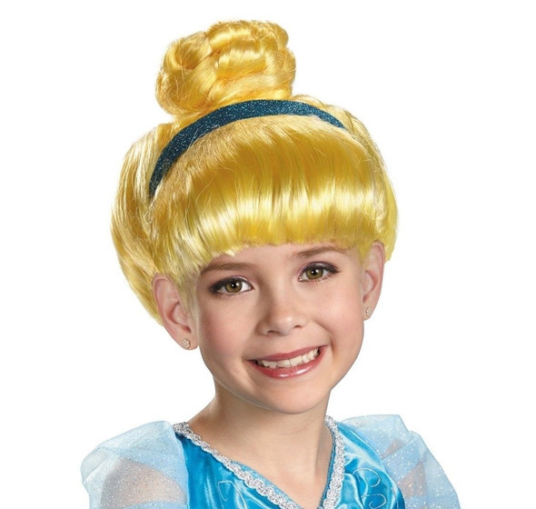 Disguise Disney Princess Cinderella Blonde Wig Girls Child Ages 4+