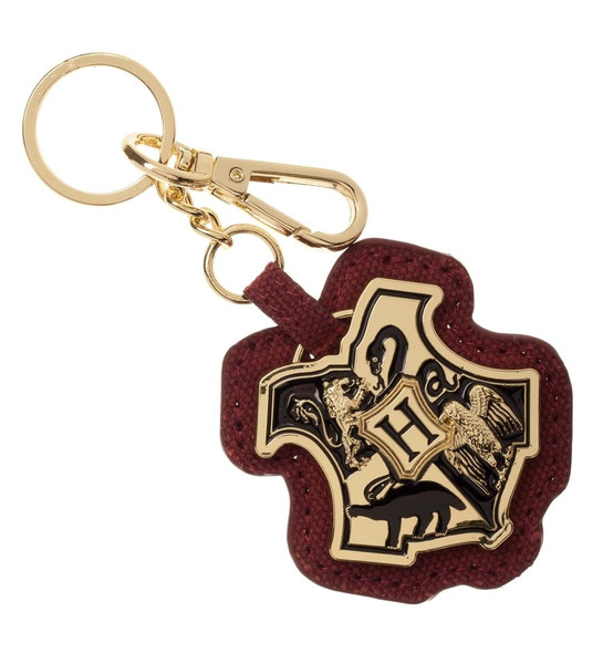 Harry Potter Metal Keychain PU Leather Keyring School of Witchcraft