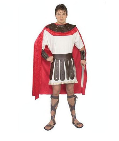 Roman Soldier Adult Men Costume Marc Anthony Warrior Adult L-Xxl Cape Armor Belt