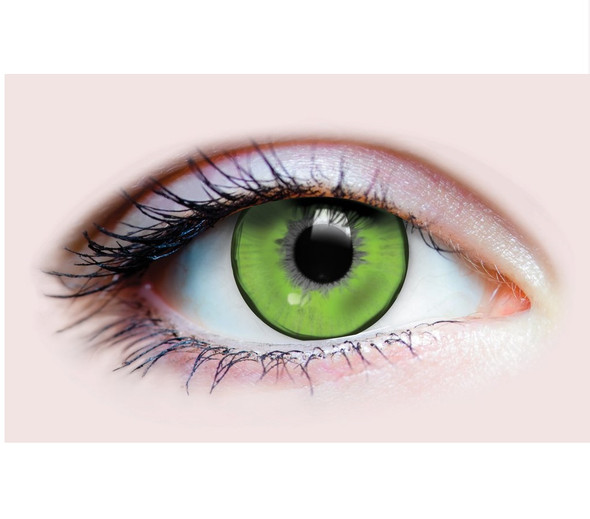 Primal Costume Contact Lenses Costume Green Lizard King Cosplay Make-up Anime