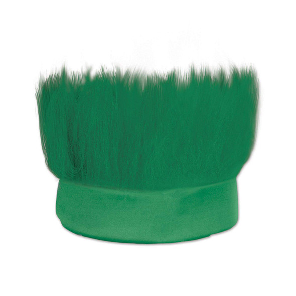 Hairy Green Spiked Fur Headband St. Patrick's Day Sports Fan Costume Accessory