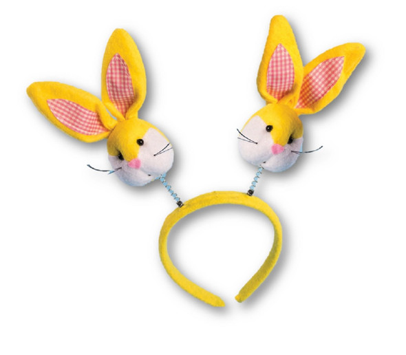 Cute Yellow Bunny Ears Headband Easter Adult Children Party Costume Accessory