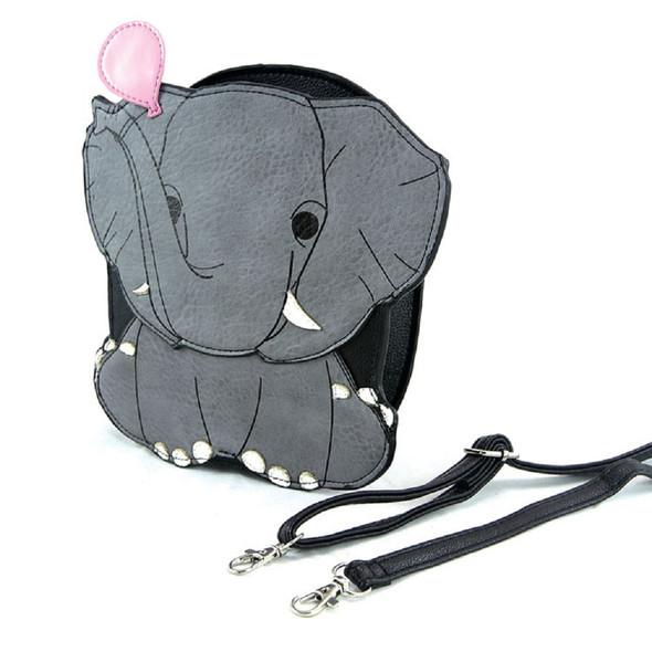 Sleepyville Critters Crossbody Purse Grey Elephant Pink Balloon Quality Vinyl