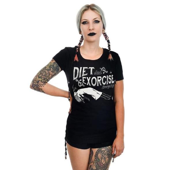 Rat Baby Diet & Exorcise Everyday Horror Babydoll Gothic T-Shirt Women's SM-XXL