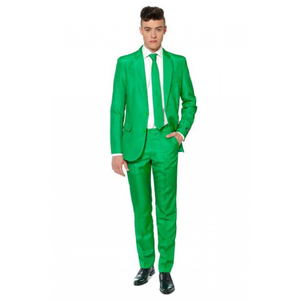 Suitmeister Green Suit Tie Adult Jacket Pants St. Patricks Day Fancy Dress SM-XL