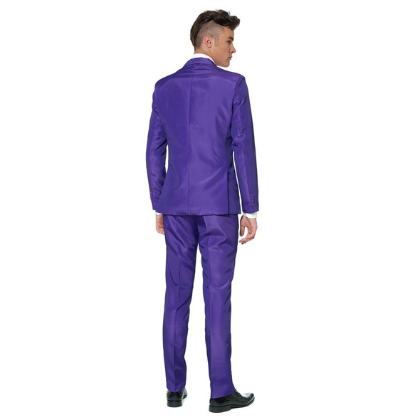 Suitmeister Solid Purple Suit Tie Adult Jacket Pants Mardi Gras Prom Men MD-XL