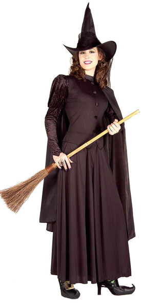 Classic Witch Costume Pointed Hat Cape Women's Std 8-12 Halloween Skirt Wicked