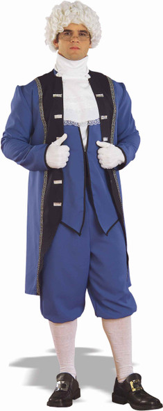 Colonial Costume George Washington Town Crier Adult Std Blue Jacket Coat Knicker