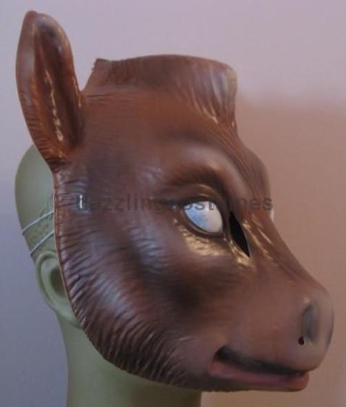 Donkey Plastic Half Mask Costume Ass Wild Farm Animal Child Adult Costume Prop