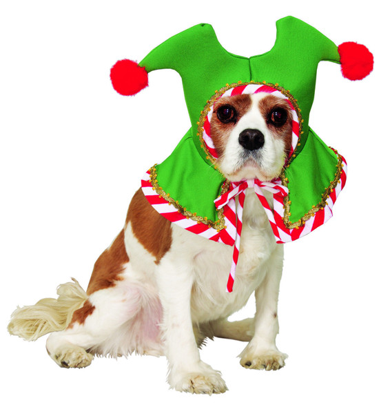 Santa's Pet Elf Costume Hat  Red White Green Dog Cat Christmas Holiday Jester