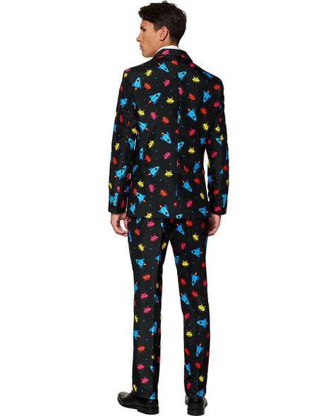 Suitmeister Video Game Suit & Tie Adult Costume Jacket Pant Retro Atari Inspired