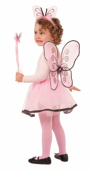 Dress Up Girls Pink & Black Skirt Petticoat Tutu Child Ballet Costume Accessory