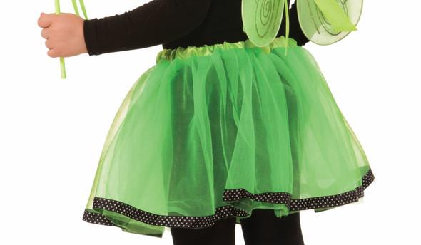 Dress Up Girls Green & Black Skirt Petticoat Tutu Child Ballet Costume Accessory