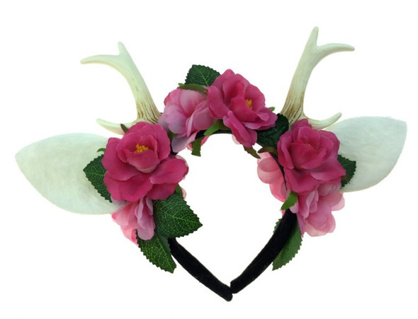 Fairy Princess Deer Antlers Headband Faun Mystical Creature Animal Horns Adult