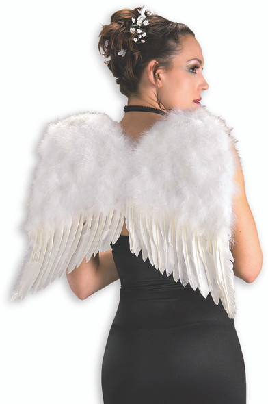 "White Feather Angel Wings 22"" Fairy Dress Up Heavenly Costume Accessory One Size"