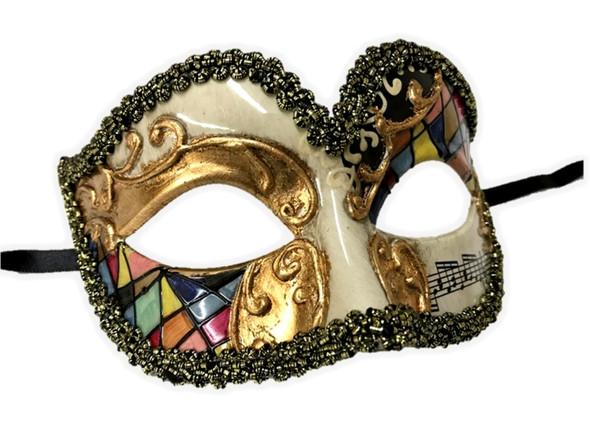 Venetian Argyle Half Eye Mask Masquerade Costume Accessory Harlequin C