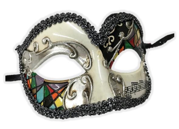 Venetian Argyle Half Eye Mask Masquerade Costume Accessory Harlequin B
