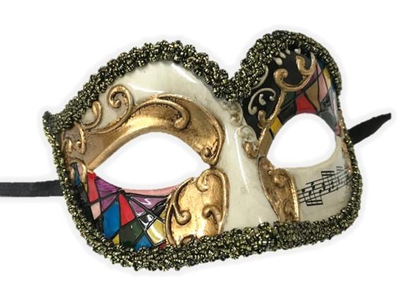 Venetian Argyle Half Eye Mask Masquerade Costume Accessory Harlequin A