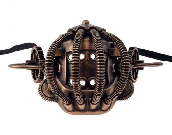 Copper Industrial Steampunk Half Mask Mouthpiece Biker Adult Mouth Piece Mens