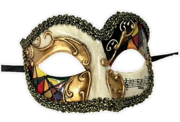 Venetian Argyle Half Eye Mask Masquerade Costume Accessory Harlequin D