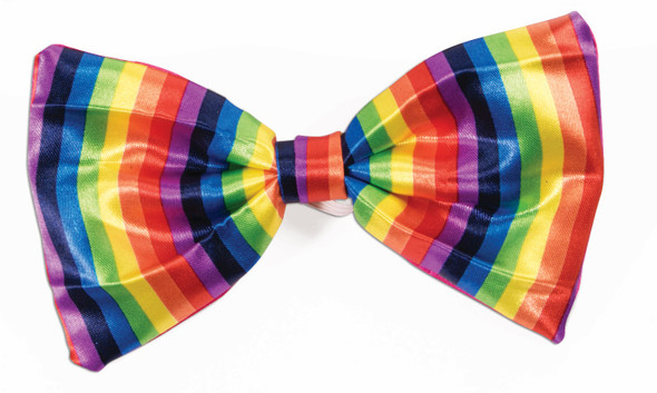 Rainbow Striped Bow Tie Adult Novelty Costume Accessory Bowtie Pride Pre Tied