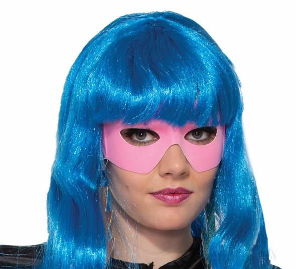 Masked Man Mask Eye Mask w Ties Pink Bandit Superhero Adult Costume Accessory