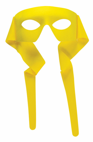 Masked Man Mask Eye Mask w Ties Yellow Bandit Superhero Adult Costume Accessory