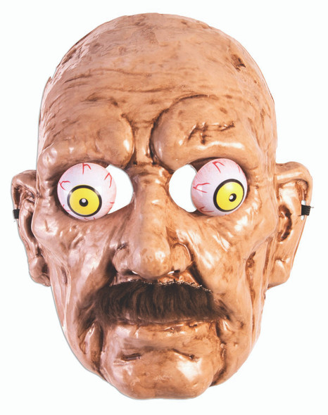 Creepy Old Man Half Mask With Googly Wiggly Eyes Halloween Costume Accessory