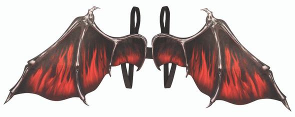 "Vampire Vampiress Fantasy 36"" Wings Screen Print Halloween Costume Accessory"