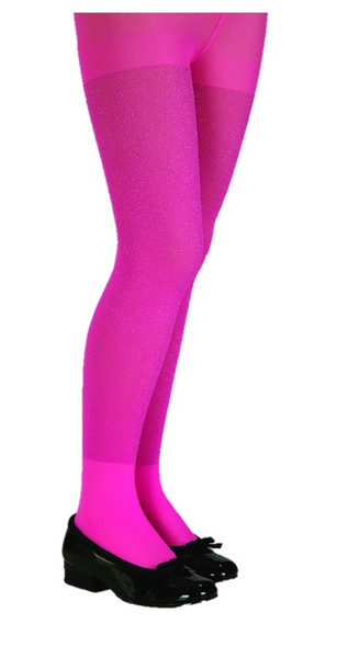 Rubie's Girls Pink Glitter Tights Child Costume Accessory Hosiery Large