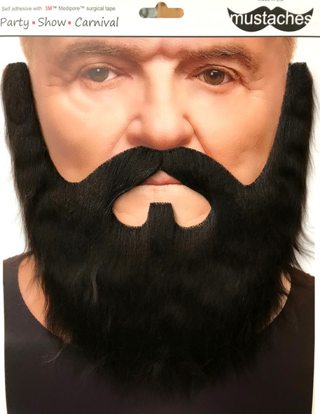 High Quality Brown Lord Mustache & Beard Set 3M Self Adhesive Facial Hair Mens