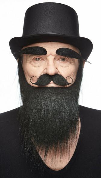High Quality Black Mustache Beard Eyebrows Set 3M Self Adhesive Facial Hair Mens