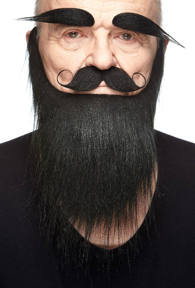 High Quality Black Mustache Beard Eyebrows Set 3M Self Adhesive Facial Hair Mens