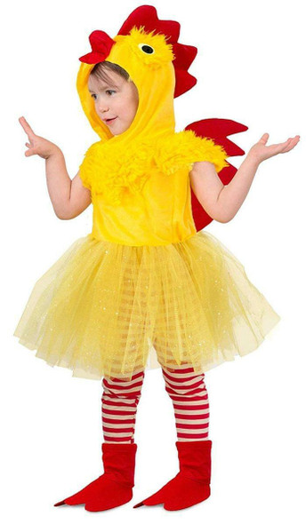 Cute Princess Chicken Dress Yellow Farm Animal Toddler Girls Costume 12m-2T