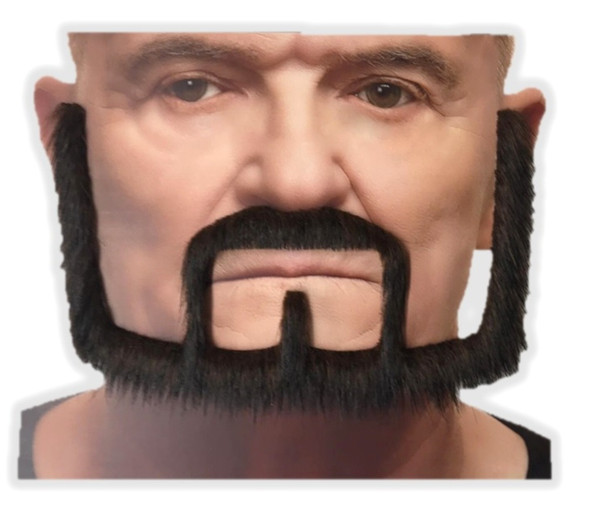 Brown Mustache & Beard Set 3M Self Adhesive Facial Hair Mens Medieval King