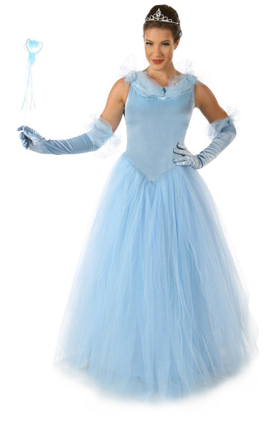 Princess Cynthia Blue Long Gown Fairy Tale Adult Women's Costume Cosplay SM-LG