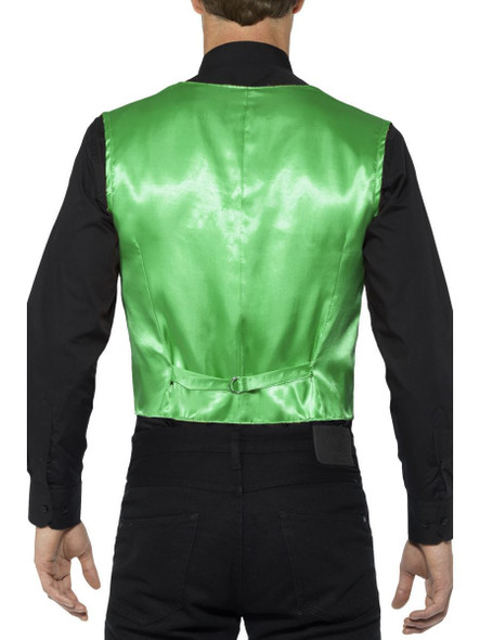 Green Sequin Waistcoat Vest Mens Adult St. Patrick Day's Costume Accessory SM-XL