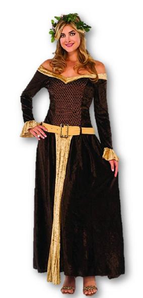 Medieval Maiden Mistress Adult Women's Costume Full Length Velvet Dress XS-LG