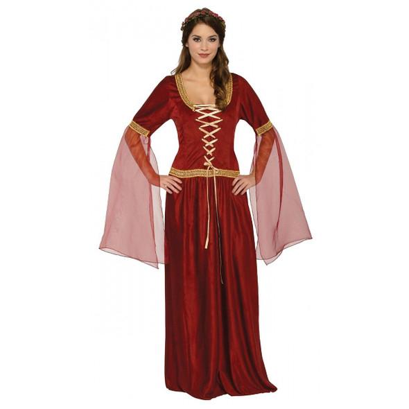 Damsel Renaissance Maiden Adult Women's Costume Full Lenth Dress Medieval XS-LG