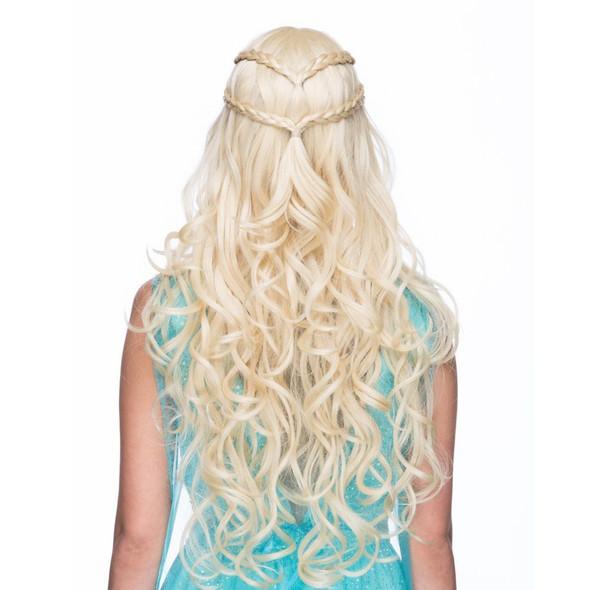 High Quality Empress Blonde Costume Wig Women's Medieval Khaleesi Cosplay Viking