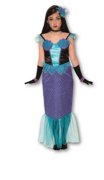 Girl's Moonlight Mermaid Costume Child Siren Under The Sea Dress Halloween SM-LG