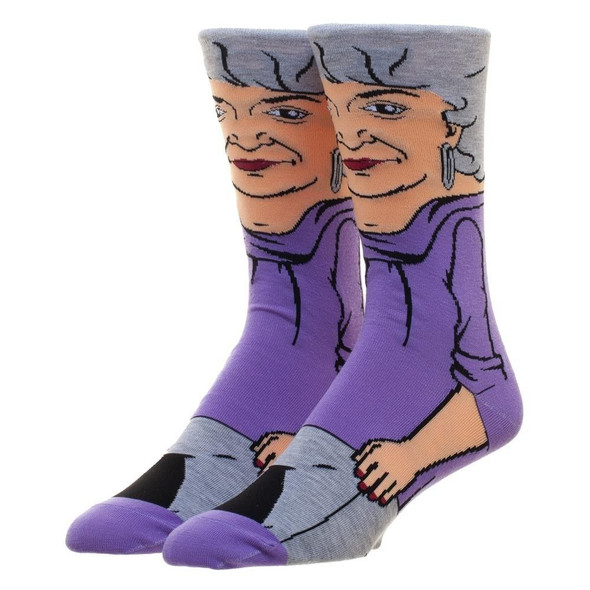 The Golden Girls Dorothy 360 Crew Socks Character Collection Adult Mens 10-13