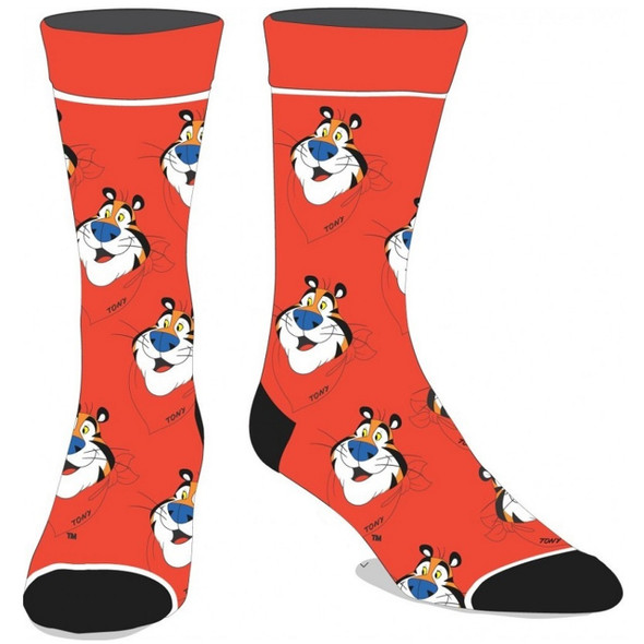 Frosted Flake Licensed Crew Socks Breakfast Food Tony The Tiger Sock Sz 10-13
