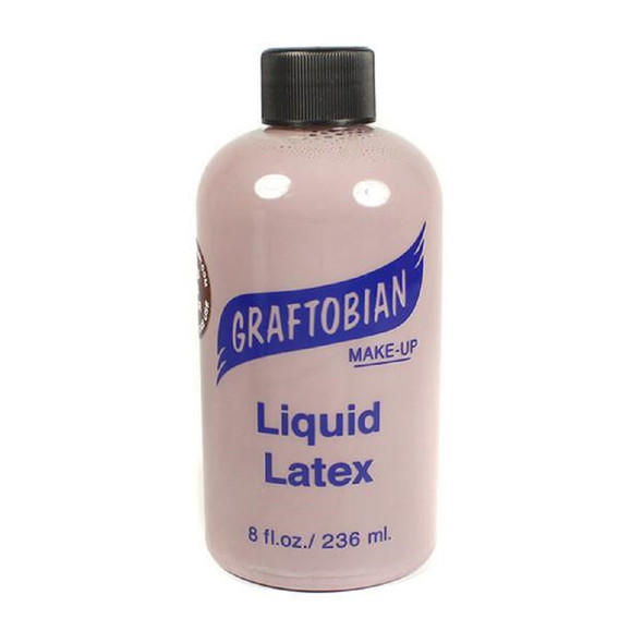 Graftobian Professional Makeup Liquid Latex Colored Dark Brown 8oz. Bottle