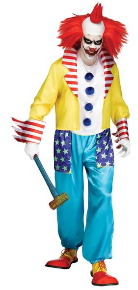 Wicked Clown Master Adult Costume Halloween Men's Killer Klown Horror Freak STD