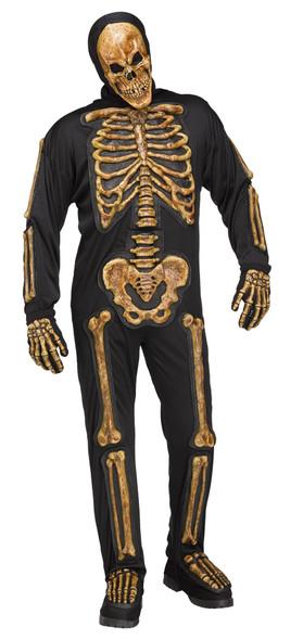 Realistic Skele-Bones Adult Men's Skeleton Zombie Halloween Costume STD-PLUS