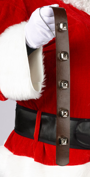 "19"" Jingle Bell Strap Christmas Holiday Door Decoration Santa Costume Accessory"